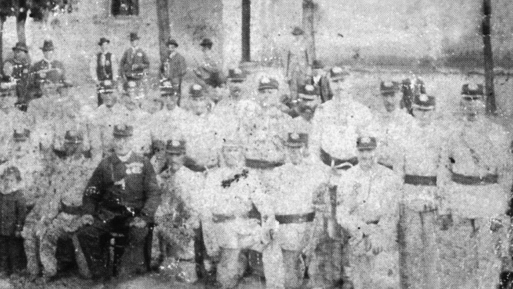 Rakvičtí hasiči v roce 1898
