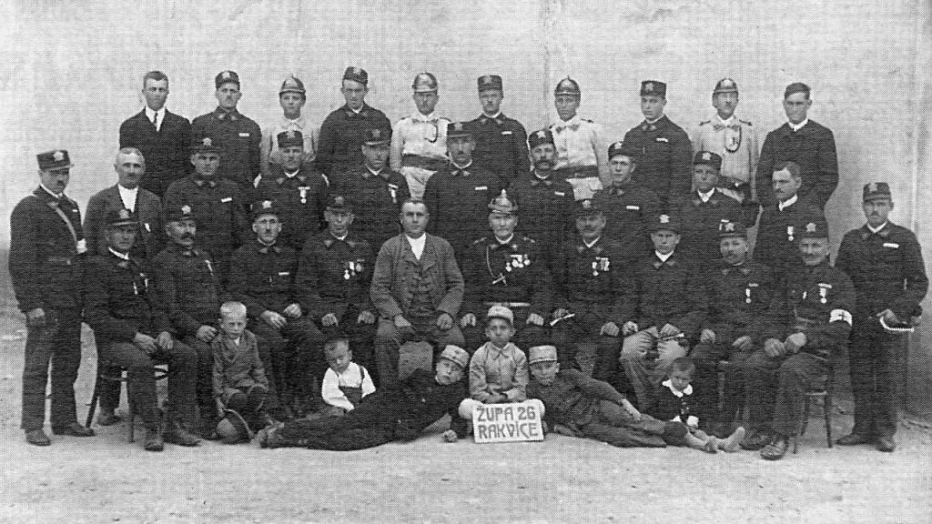 Rakvičtí hasiči v roce 1928
